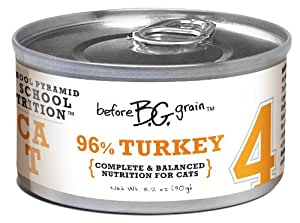 Merrick Before Grain #4 Turkey Paté Style Cat Food, 3.2 Ounce Can (24 Count Case)