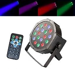 Zuwit 18 * 3w Leds Rc Dmx512 Party Disco Dj Stage Lighting Magic Effect Light W Remote Control