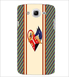 PrintDhaba Heart Pattern D-5746 Back Case Cover for SAMSUNG GALAXY MEGA 5.8 (Multi-Coloured)