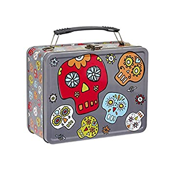 Dia de los Muertos Retro Metal Lunch Box