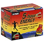 5 Hour Energy Energy Shot, Pomegranate, 6 - 1.93 oz (57 ml) bottles
