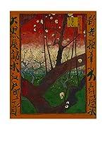 Especial Arte Lienzo Bloeiende pruimenboomgaard Multicolor