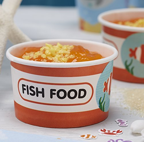 Ginger Ray Fish Food Sea Themed Party Ice Cream / Treat Tubs - Under The Sea - 1