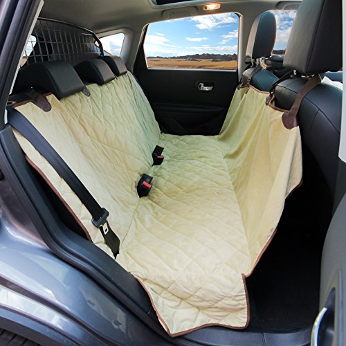 luxury dog seat cover with side flaps superior protection quilted padding for comfort. Black Bedroom Furniture Sets. Home Design Ideas