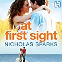 At First Sight (       UNABRIDGED) by Nicholas Sparks Narrated by David Aaron Baker