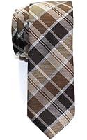 Retreez Modern Tartan Check Styles Woven Microfiber Skinny Tie - Various Colors