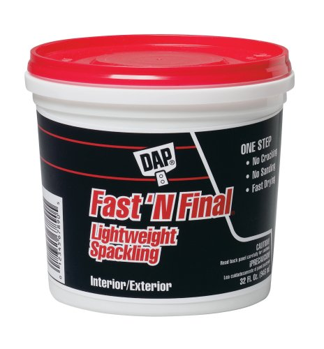 Buy Dap Fast N Final Interior and Exterior Spackling, 1-Quart Tub #12142 (DAP Painting Supplies,Home & Garden, Home Improvement, Categories, Painting Tools & Supplies, Wallpaper Supplies, Wall Repair, Spackle)