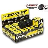 DUNLOP Revelation Pro Squash Balls (Double Spot) - 1 Dozen