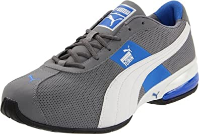 PUMA Men's Cell Turin Perforated Sneaker, Steel/Grey/Silver/Royal, 6.5 D US