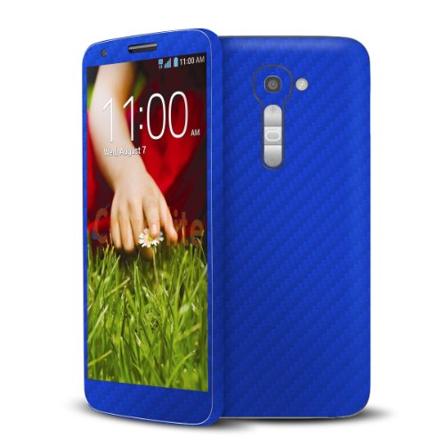 Cruzerlite Blue Carbon Fiber Skin Case for LG G2 Model VS980 - Retail Packaging (Lgg2 Carbon Fiber compare prices)