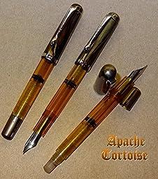 Konrad Flex Nib Apache Tortoise Piston Fill Fountain Pen