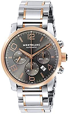 [Mont Blanc] MONTBLANC watch TIMEWALKER gray dial automatic winding stainless steel / stainless steel (PGPVD) 107321 Men's parallel import goods]