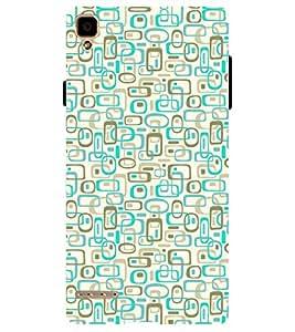 Chiraiyaa Designer Printed Premium Back Cover Case for OPPO F1 (pattern texture square rectangle) (Multicolor)