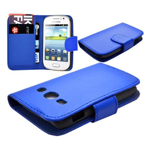 Custodia portafoglio Flip in pelle per Samsung Galaxy Fame GT-S6810L %2F GT-S6810P
