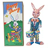 Vintage Style Collectible Tin Toy Easter Bunny with Drums