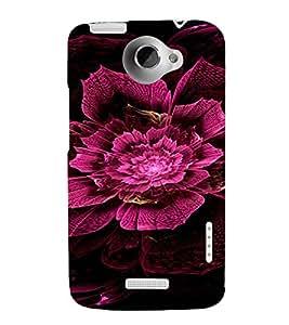 PrintVisa Pink Flower Design 3D Hard Polycarbonate Designer Back Case Cover for HTC One X