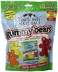 YumEarth Natural Gummy Bears, 10 Coun…