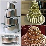 EURO TINS Moule a gâteau de mariage Topsy Turvy Rond à 4 étages - lot de 4