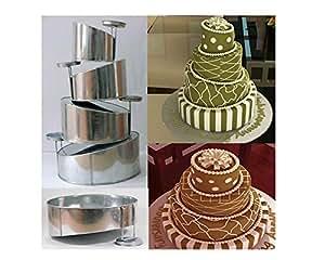 multi layer cake pans topsy turvy round 4 tier wedding cake pan cake