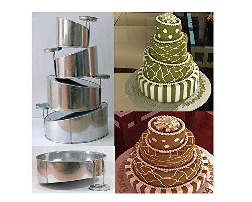 Cake Pans Topsy Turvy Round 4 Tier Wedding Cake Pan Cake Tin Set