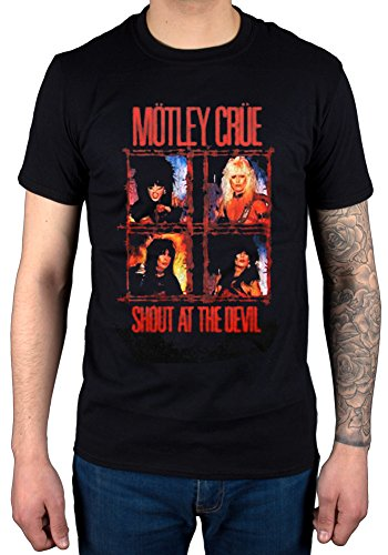 "Official grafica ""Mötley Crüe-Shout At The Devil Band Rock, Heavy Metal nero Large"