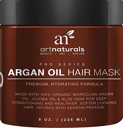 Art Naturals® Argan Oil Hair Mask, Deep Conditioner 8 Oz, 100% Organic Jojoba  Oil, Aloe Vera & Keratin, Repair Dry, Damaged Or Color Treated Hair After  ...
