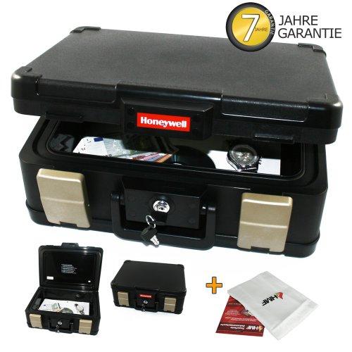 Feuerfeste- Wasserdichte Dokumentenkassette Dokumentenbox Geldkassette DIN A4, inkl. feuerfeste Schutztasche