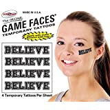 Believe Temporary Tattoo 25 Sheets