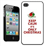 Fancy A Snuggle 'Keep Calm It's Only Christmas' Clip On Back Cover Hard Case for Apple iPhone 4/4S