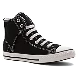 CONVERSE Kids\' Black All Star Easy Slip Hi, 630386F (1.5 Junior)