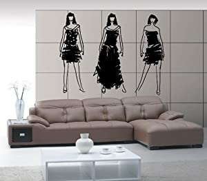Beautiful Fashion Models Woman Designer Clothing Boutique Mall Decor Wall Mural Vinyl Decal Sticker M247
