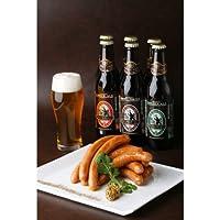 お中元 [ビール+ウインナーセットA] 金賞ビール6本、日本一ウインナー10本 (2-3人向)