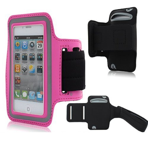 Easefit Neoprene Sports Gym Running Arm Armband Sweat-Proof Waterproof Case Cover Protect For Iphone 3Gs,Iphone 4S, Iphone 4,Iphone 4G, Iphone 5, Iphone 5S,Ipod Touch 4G,Ipod Touch 5Th Generation +Screen Cleaning Cloth (Y-Pink)