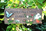 Garden Wall Plaque - Where Flowers Bloom