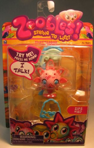 Zoobles - 41740 - Spring to Life! - Chatteroos - Zips #157 - incl. Happitat
