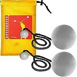 Bolas 80 mm con mando a distancia contacto con inserciones de silicona, hilo de algodón negro y custodia 'iJuggle'.