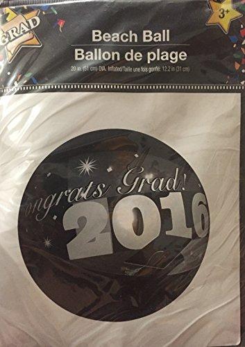 congrats grad beach ball 2016 (20 in (51 cm) Dia, 12.2 in (31 cm)
