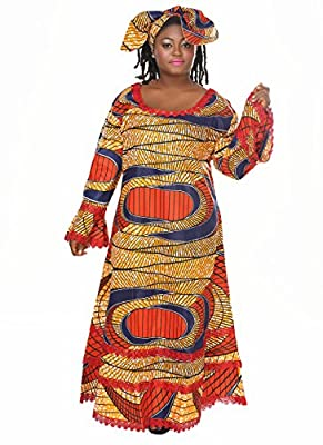 African Planet Women's Ethnic Maxi Dress One Size History Month Clothing