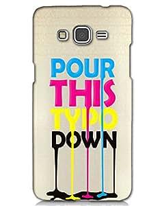 Hugo Samsung Galaxy On7 Back Cover Hard Case Printed Designer Multicolour