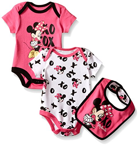 Disney Baby Girls Minnie Mouse Bodysuit Bib Multi