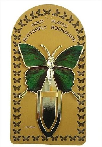 * Lovely Gold Plated 'Butterfly' Bookmark - Ideal Gift For Her *