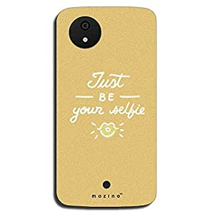 Mozine Your Selfie printed mobile back cover for Micromax android 1