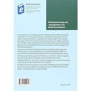 Risikobewertung und -management von Medizinprodukten: Kommentar zu DIN EN ISO 10993-1 unter Einbezie