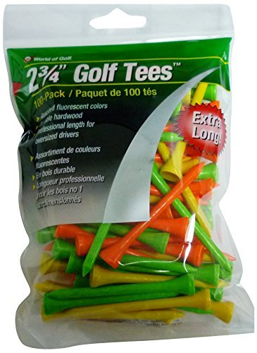 JEF World Of Golf Tee (Pack Of 100), 2 3/4-Inch, Fluorescent
