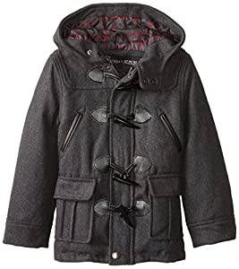 Urban Republic Little Boys' Wool Blend Toggle Coat, Charcoal, 5/6