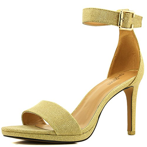 prom sandals gold