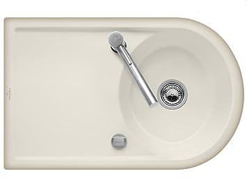 Villeroy & Boch Cappuccino Kitchen Sink Ceramic Sink Lagorpure Beige 45