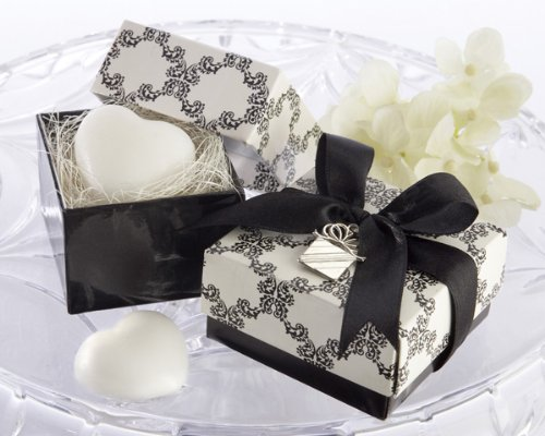 Sweet Heart Heart-Shaped Scented Soap with Kate Aspen Signature Charm (Set of 72) - Wedding Favors
