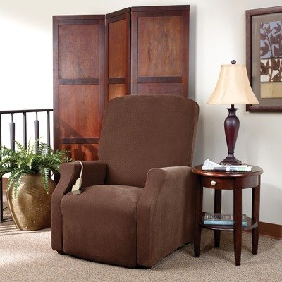 Sure Fit Lift Recliner Slipcover, Large, Chocolate
