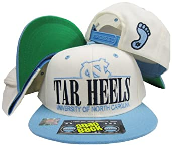 North Carolina Tar Heels White Light Blue Two Tone Plastic Snapback Adjustable... by Top of the World